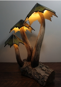 Mushroom collection sculptural lighting